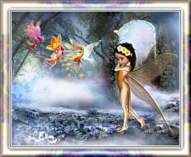 La mélancolie de fée fleur
