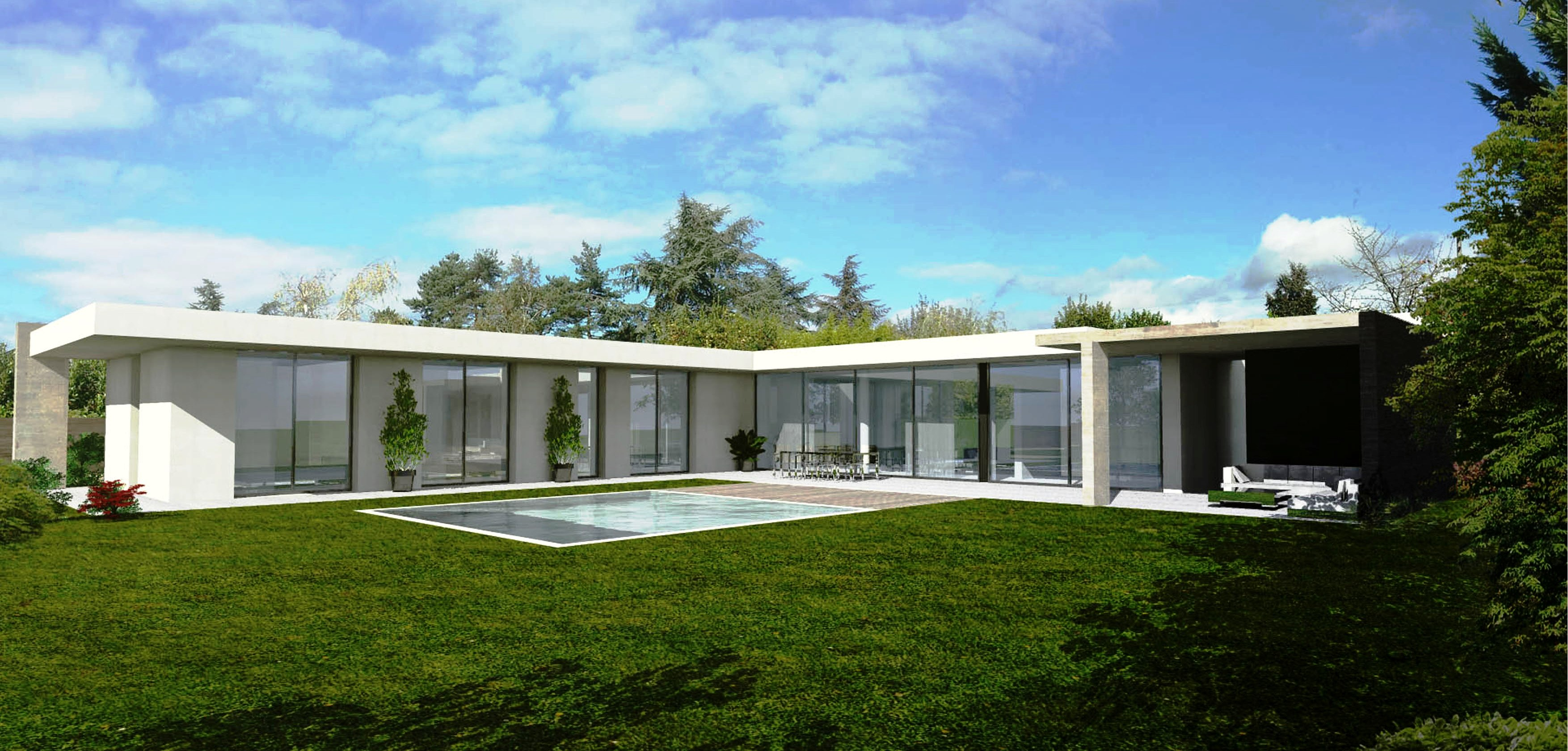 Plan architecte maison contemporaine maison moderne for Villa contemporaine plan