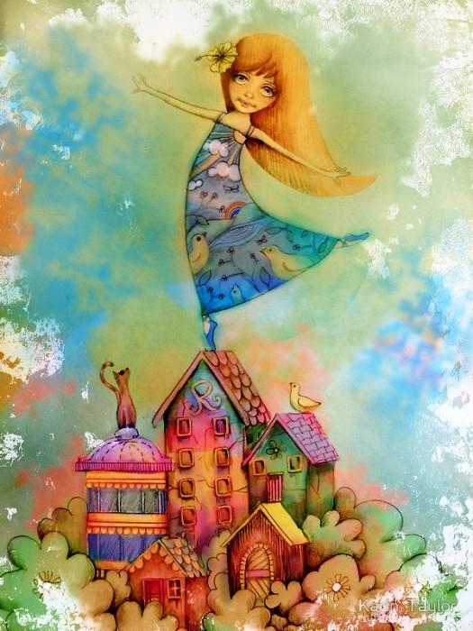 Danser sur les toits.  Auteur: Karin Taylor.