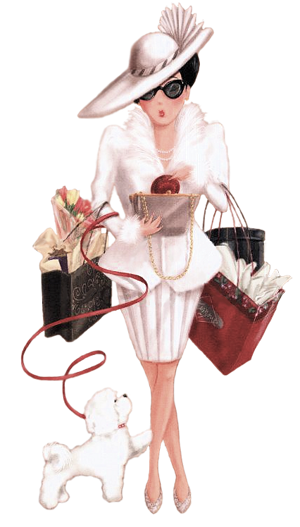 Tubes femmes shopping