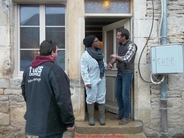 """Le chantier de """"Tous Ensemble"""" chez Romain, à Veuxhaulles sur Aube, est terminé !"""