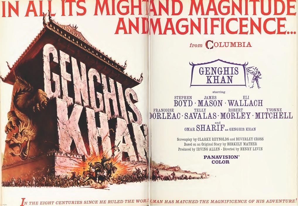 GENGHIS KAHN BOX OFFICE USA 1965