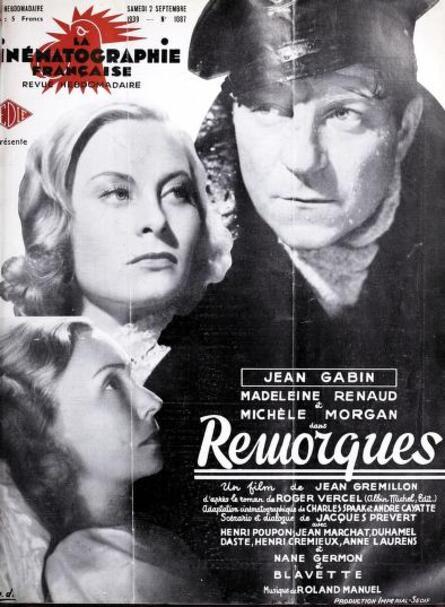 REMORQUES - 27 NOVEMBRE 1941- POSTER ORIGINAL