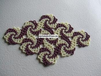 napperon spiral - losange