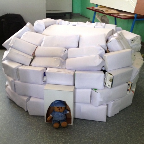 Fabrication d'un igloo