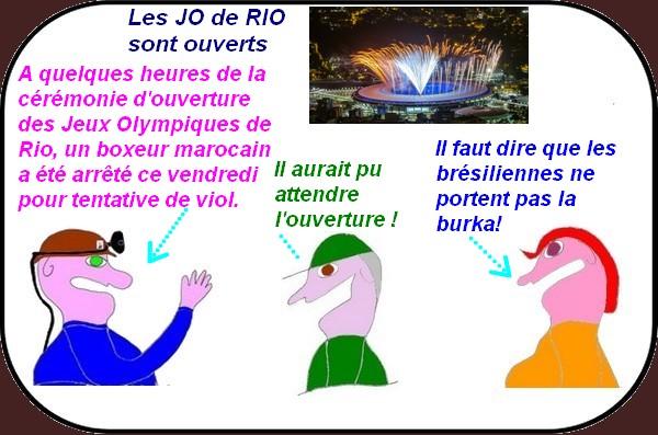 C'est un viol à Rio pour commencer les jeux !