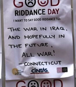 Good riddance war