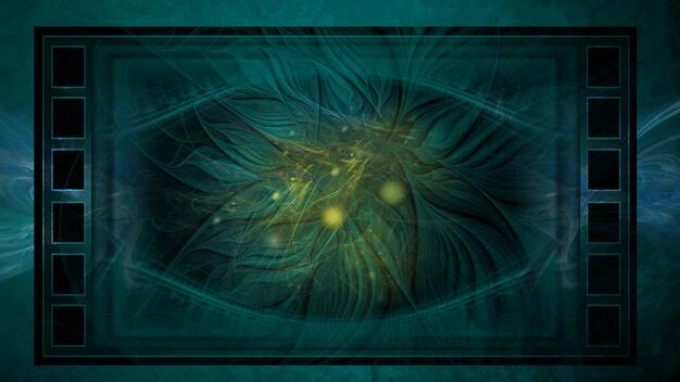 fond bleu et fractales