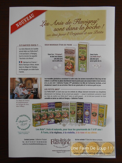 Mon 22 ème partenariat gourmand : Les anis de Flavigny