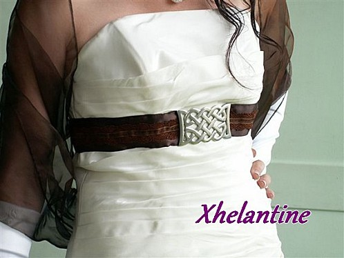dentelle ceinture mariée