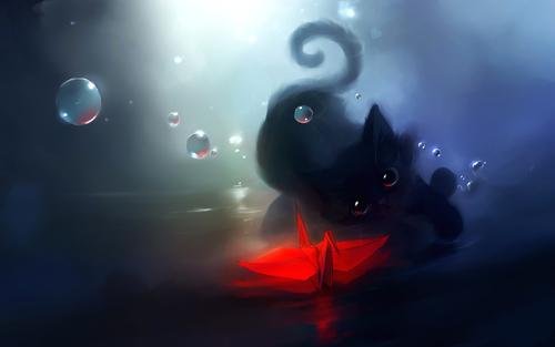 Chat noir ... Vous lui faites un câlin ?