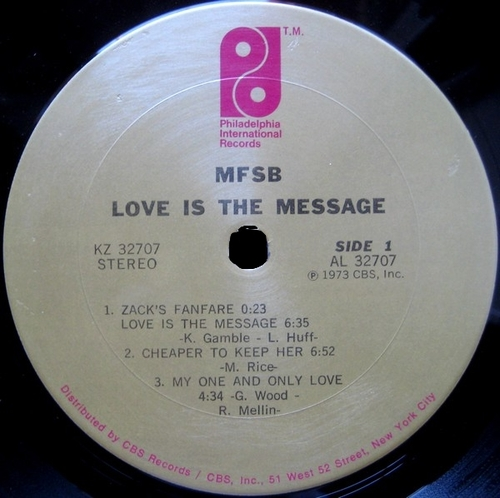 "1973 : MFSB : Album "" Love Is The Message "" Philadelphia Inernational Records KZ 32707 [ US ]"