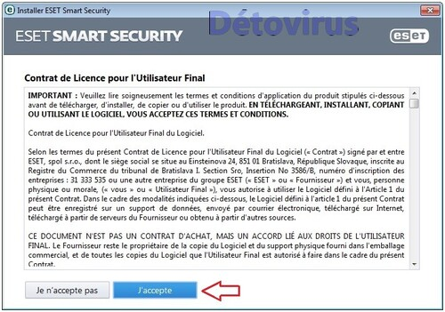 Eset Smart Security 7 - Licence 4 mois gratuits