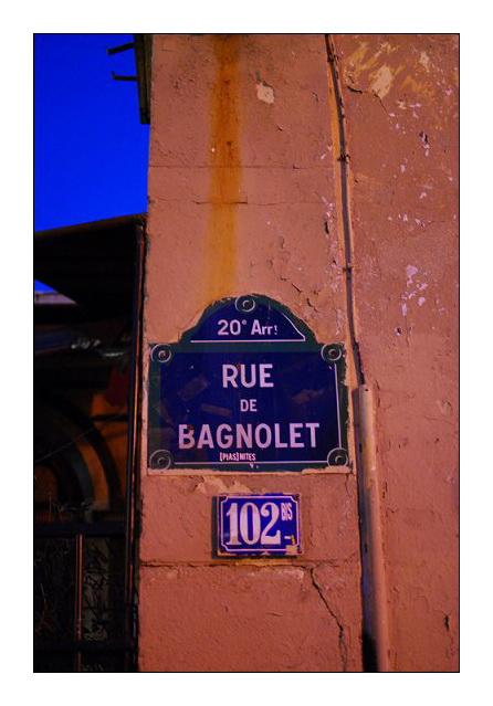 Le soleil de la rue de Bagnolet.