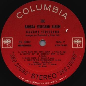 1963, The Barbra Streisand album