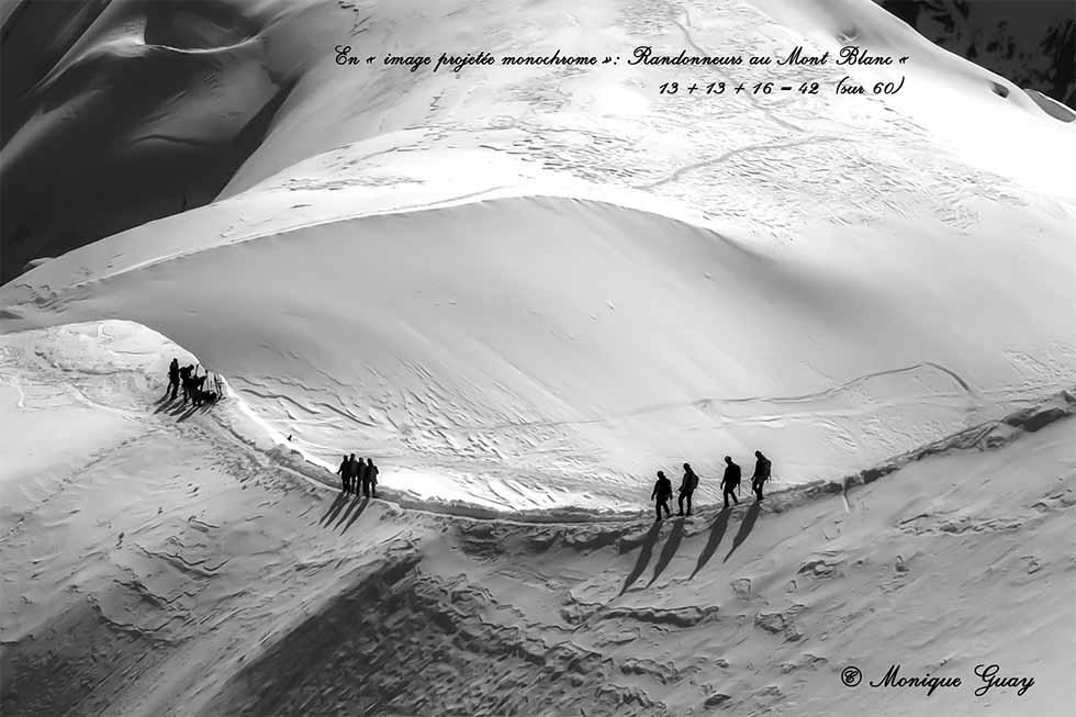 Randonneurs au Mont Blanc