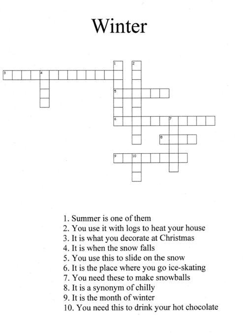 CROSSWORDS : WINTER