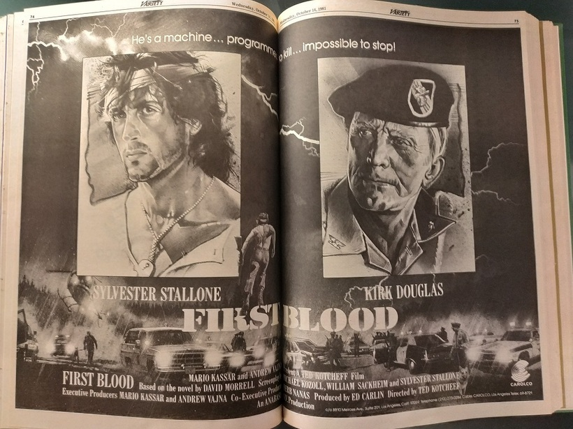 RAMBO  FIRST BLOOD- POSTER WITH KIRK DOUGLAS
