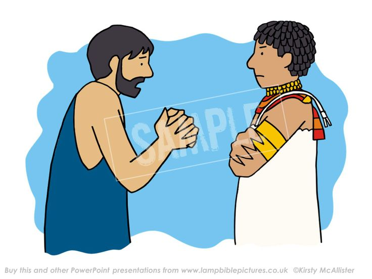 Judah pleads with Joseph // Joseph - family reunited | Lamp Bible Pictures