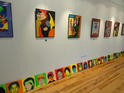 """exposition """"encres et couleurs"""" à la médiathèque"""