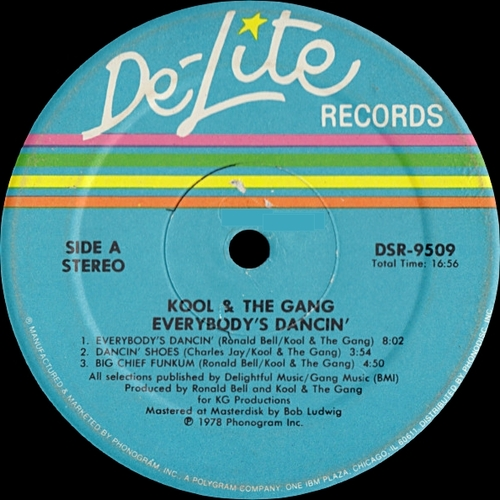 "Kool & The Gang : Album "" Everybody's Dancin' "" De-Lite Records DSR-9509 [US]"
