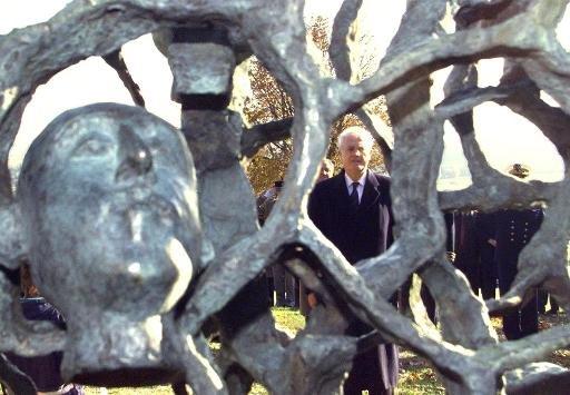 sculpture volée sur le Chemin des Dames dans l'Aisnec d'un hauteur de 4m