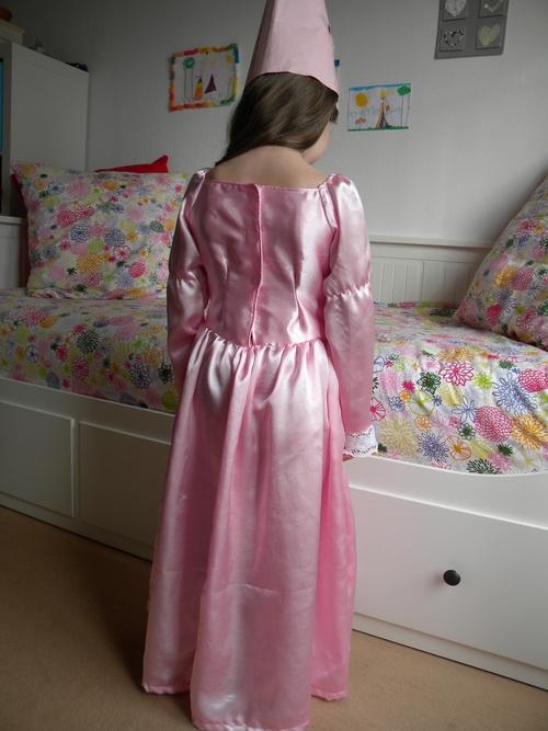 Robe de princesse Arielle de dos