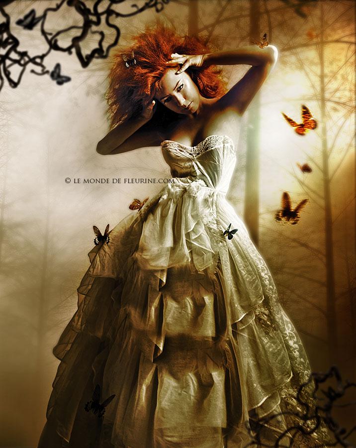 le papillon et la femme