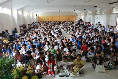 450 élèves et leurs professeurs