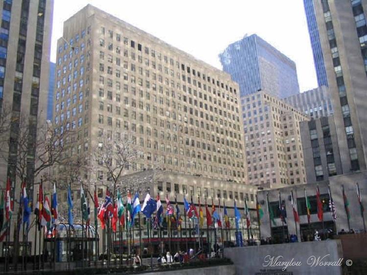 New York : Vue sur l'intérieur du Rockfeller Center