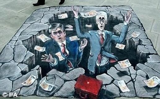 les fous de la bourse dans un gouffre financier..