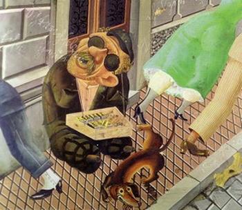 Otto Dix, Le vendeur d'allumette