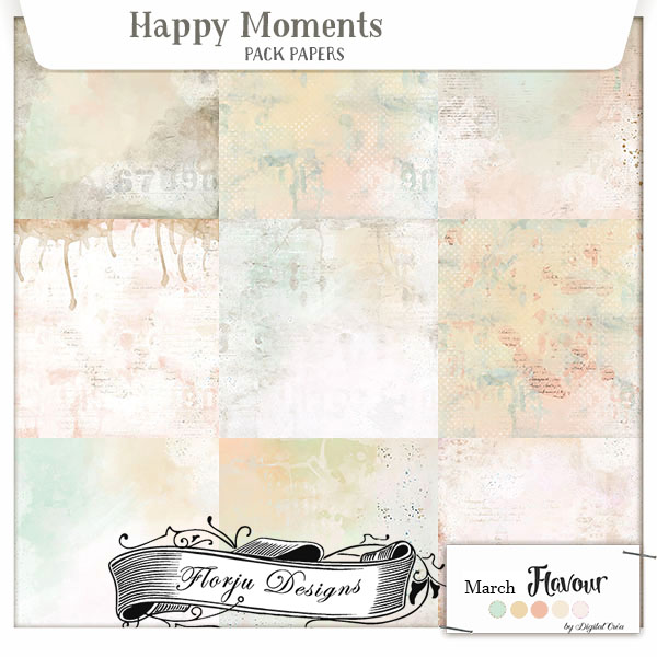 Happy Moments { Papiers PU } by Florju Designs