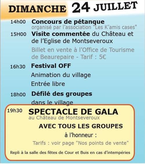 50ème nuits de Montseveroux et 40ème salon des arts (juillet 2017)