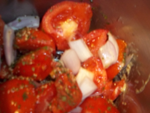 Salade de tomates express au Thermomix