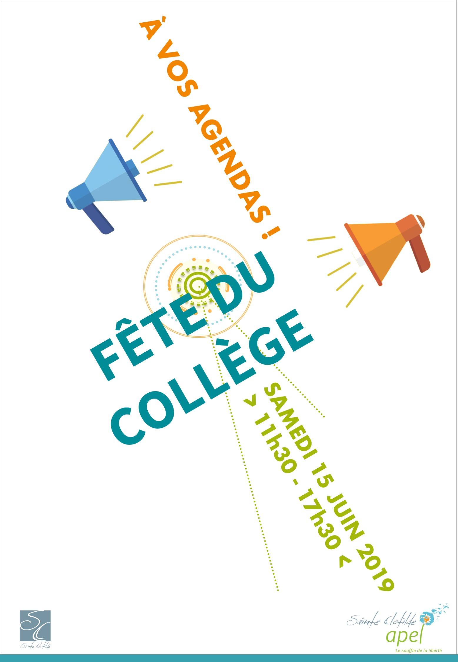 A Vos Agendas | Fête du Collège !