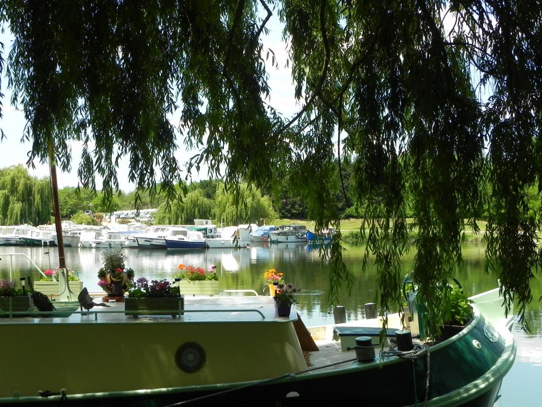 le canal passe à Fontet , la base nautique !
