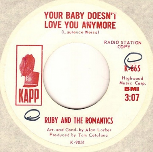 Ruby & The Romantics : Your Baby Doesn't Love Anymore