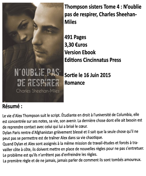 Thompson Sisters tome 4 : N'oublie pas de respirer, Charles Sheehan-Miles