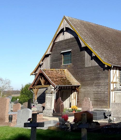 L'église à pans de bois Notre Dame de Drosnay (Marne)