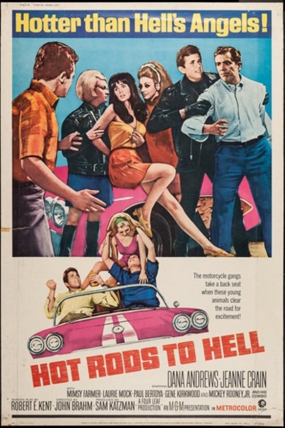 HOT RODS TO HELL BOX OFFICE USA 1967