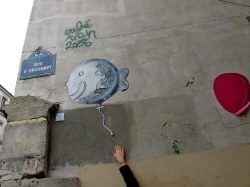 poisson street-art Montmartre