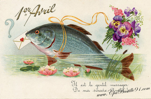 Echange poisson d'avril