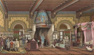 interieur d'un hotel medieval