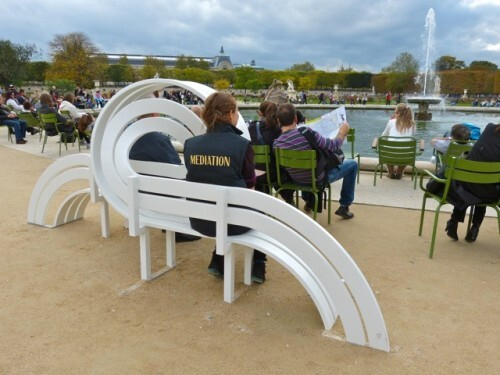 Fiac Tuileries Jeppe Hein benches 8