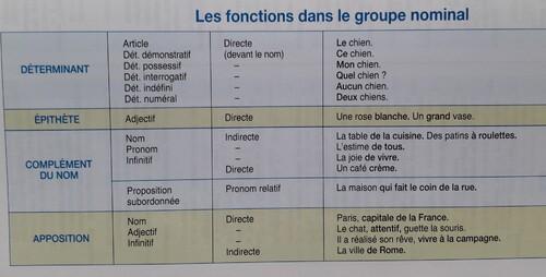E / Le groupe nominal
