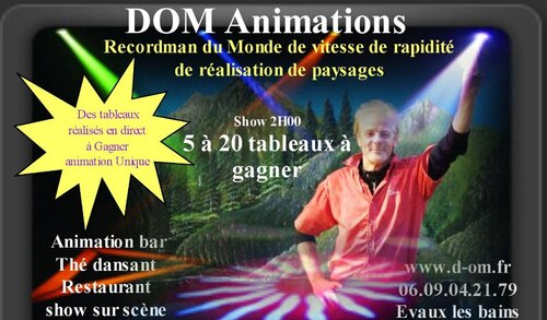 LES ANIMATIONS DE DOM BELLET