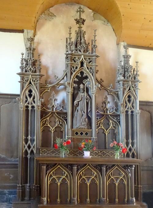 L'église à pans de bois de Mathaux