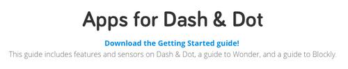 Un robot dans la classe : le robot Dash