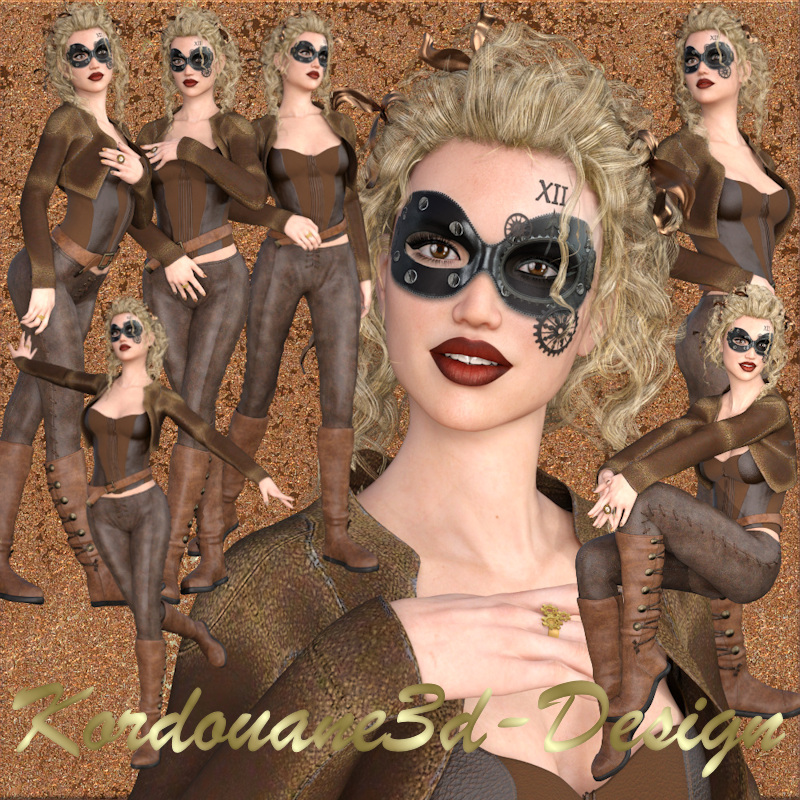 Femme style Steampunk (tube-poser-render)